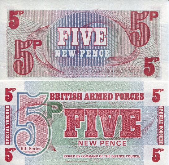 5 Pence  UNC Banknote