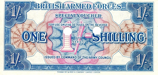 1 Shilling  aUNC Banknote