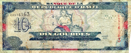 10 Gourdes  VG (see large scan) Banknote