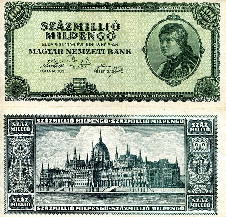 100 Million Milpengo  XF Banknote