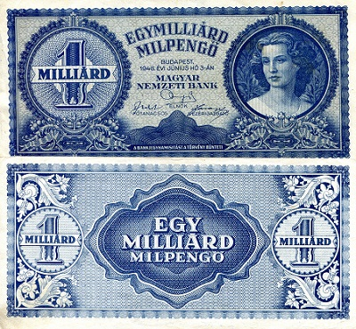 1  Milliard Milpengo  VF+ Banknote