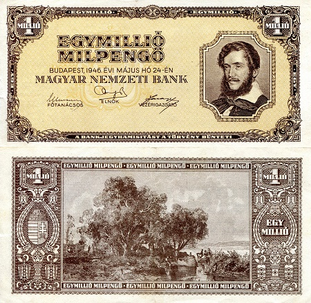 1 Million Milpengo  XF Banknote