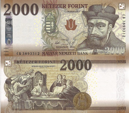 2,000 Forint  UNC Banknote