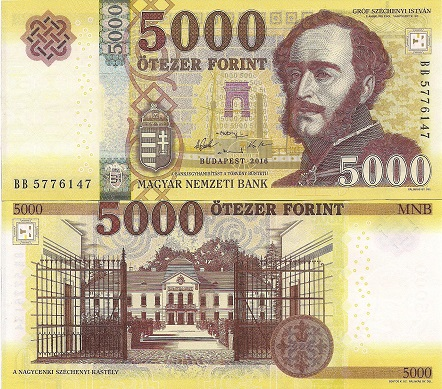 5,000 Forint  UNC Banknote
