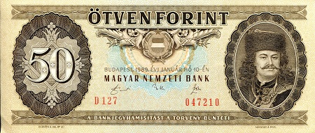 50 Forint  XF (see scan) Banknote