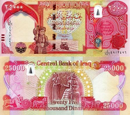 Iraq Dinars Banknotes