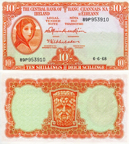 10 Shillings  aUNC (Doesn't lay flat) Banknote