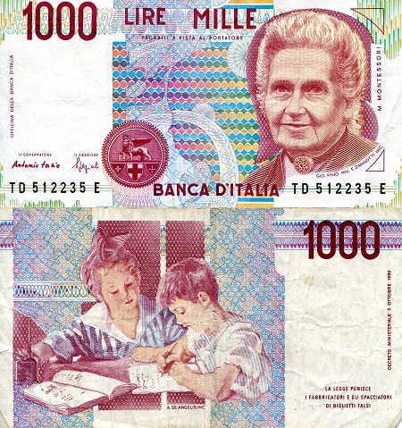 1,000 Lire  F (see large scan) Banknote
