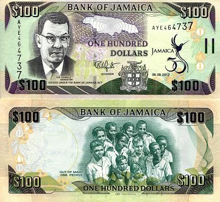 Jamaica Pick 86c 1000 Dollars 2005 Unc
