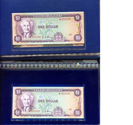 1-10 Dollars  UNC 8 Banknote Set