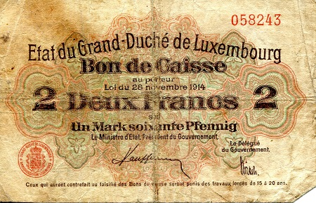 2 Francs  VG (see large scan) Banknote