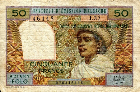 50 Francs  VG (see large scan) Banknote