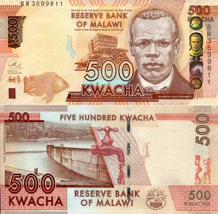 MALAWI 20 KWACHA 2017 P NEW DATE UNC