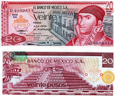 Roberts World Money Store and More - Mexico Pesos Banknotes