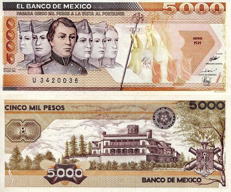 5000 Pesos Mexico Related Keywords
