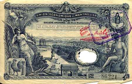 100 Francs  VG (see large scan) Thin Banknote