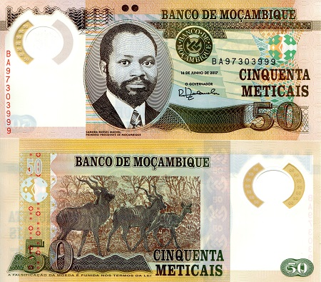 NEW ISSUE 20 METICAIS UNC BANKNOTE 2011 YEAR POLYMER MOZAMBIQUE