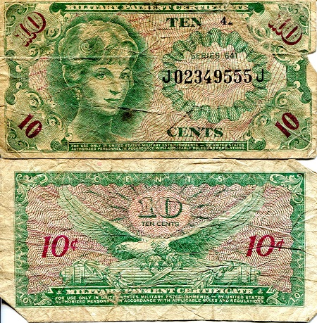 10 Cents  VG (see large scan) Banknote