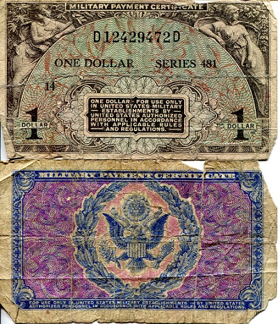 1 Dollar  G (see large scan) Banknote