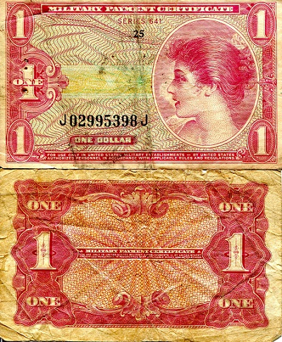 1 Dollar  VG/G (see large scan) Banknote