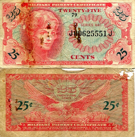 25 Cents  G (see large scan) Banknote