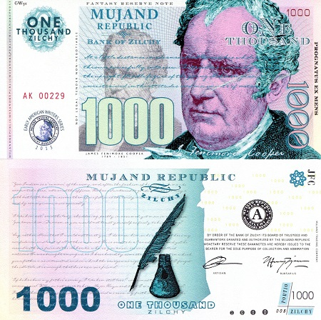 1,000 Zilchy  UNC Banknote