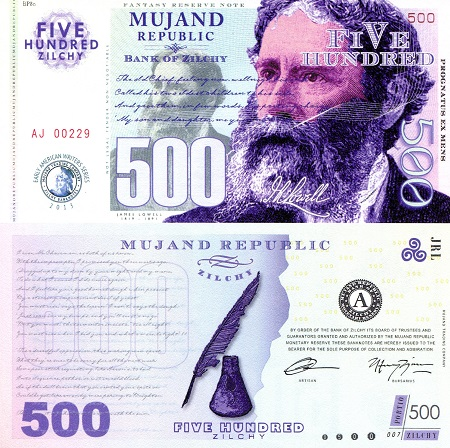 500 Zilchy  UNC Banknote