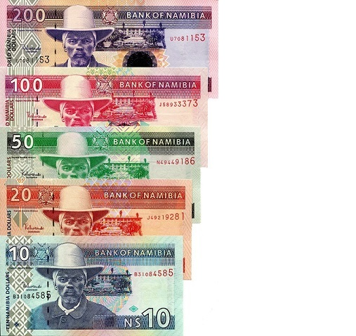 10-200 Dollars  UNC 5 Banknote Set