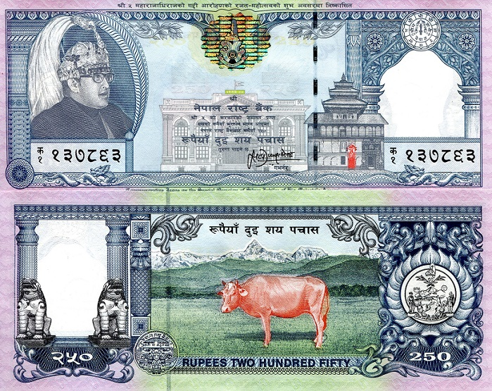 250 Rupees  UNC Banknote
