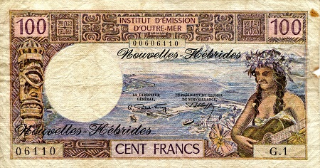 100 Francs  F (see large scan) Banknote