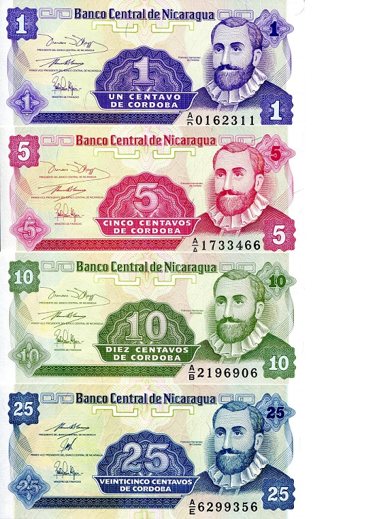 1-25 Cent  UNC 4 Banknote Set