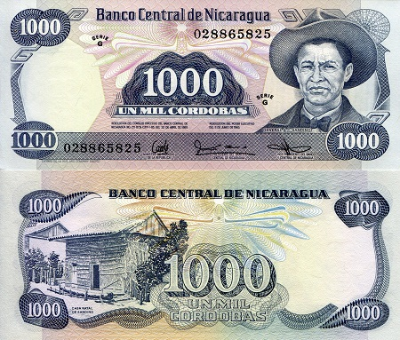 12.99 $ FOR ONE BANK NOTE CENTRAL AMERICA.100 PESOS 1959  UNC .