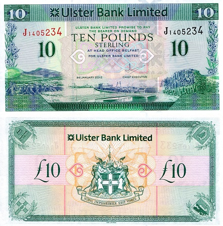 10 Pounds  UNC Banknote