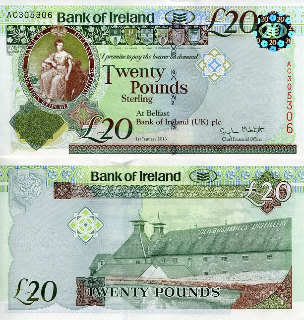 20 Pounds Unc Banknote Country Northern Ireland