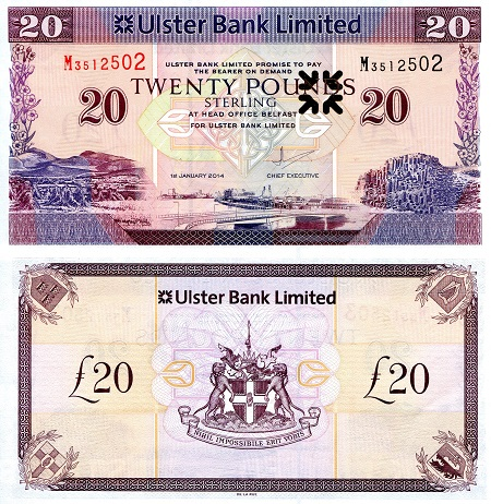 20 Pounds  UNC Banknote