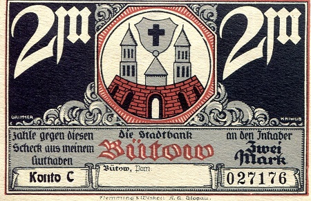 2 Marks  aUNC Banknote