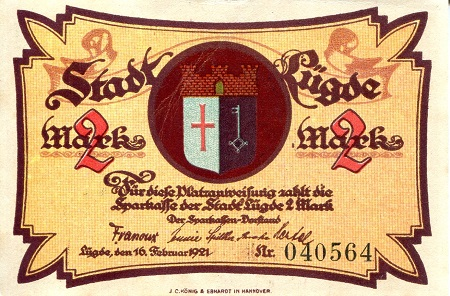 2 Marks  XF Banknote