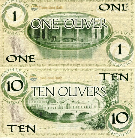 1 & 10 Olivers  UNC 2 Banknote Set