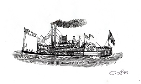 Mississippi River Steam ship