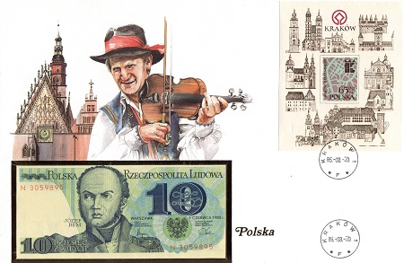 10 Zloty  UNC Banknote