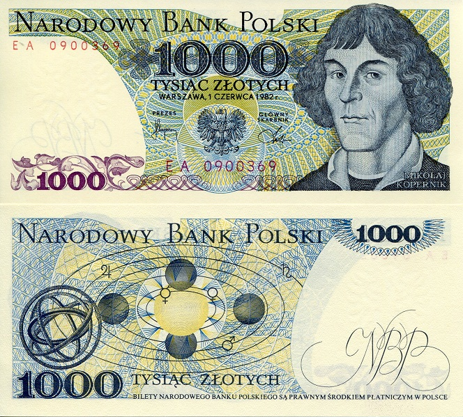 1,000 Zlotych  UNC Banknote
