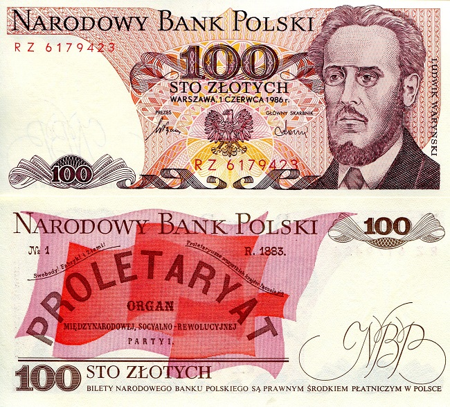 100 Zlotych  UNC Banknote