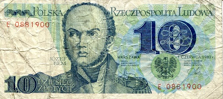 10 Zlotych  VG (see scan) Banknote