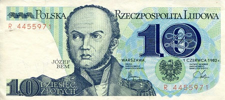 10 Zlotych  aUNC/XF (see scan) Banknote