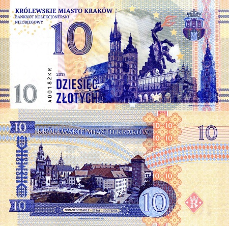 10 Zlotych  UNC Banknote
