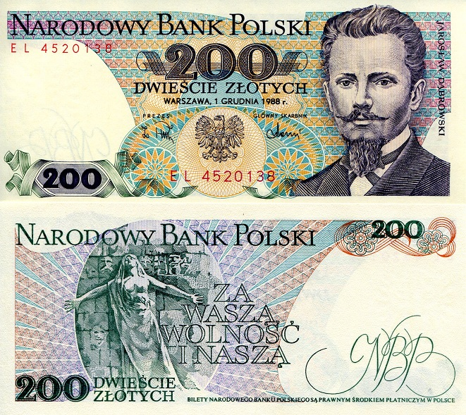 200 Zlotych  UNC Banknote