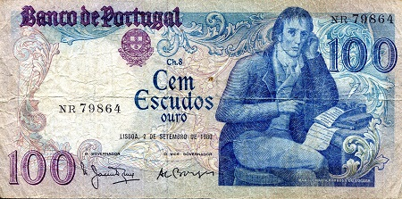 100 Escudos  VG (see large scan) Banknote