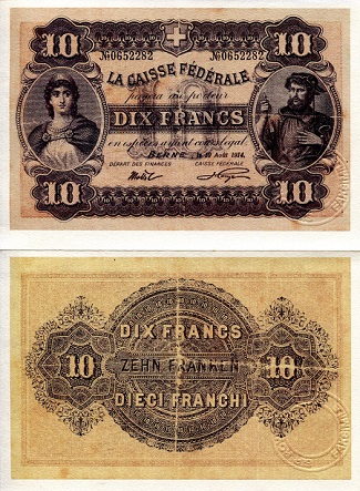 10 Francs  XF Banknote