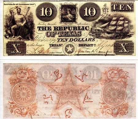 10 Dollars  XF Banknote
