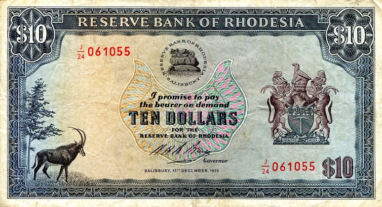 10 Dollars  VF-F (see scan) Banknote